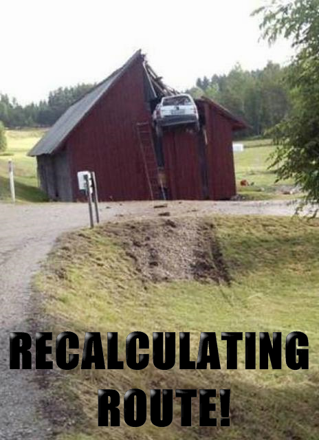 recalculating route