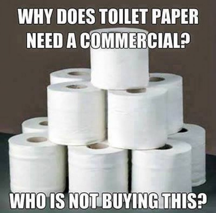 Image result for does toilet paper need a commercial